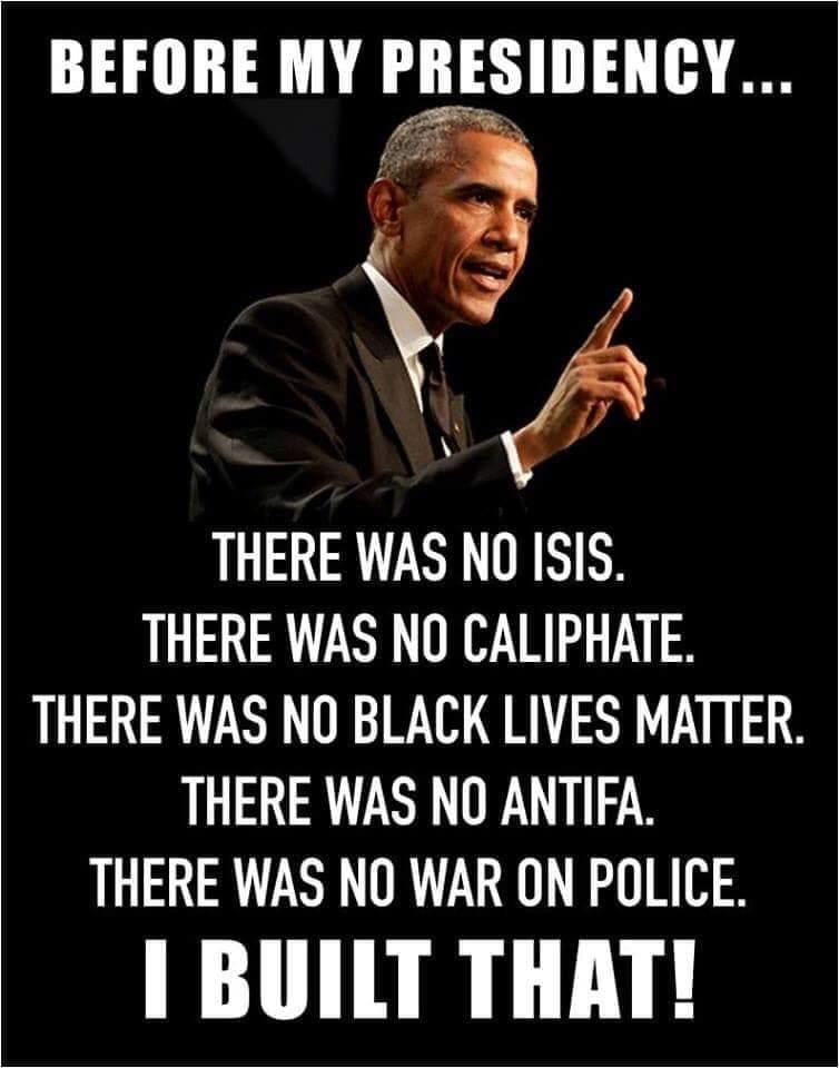 Obama IsisBLMAntifaPolice